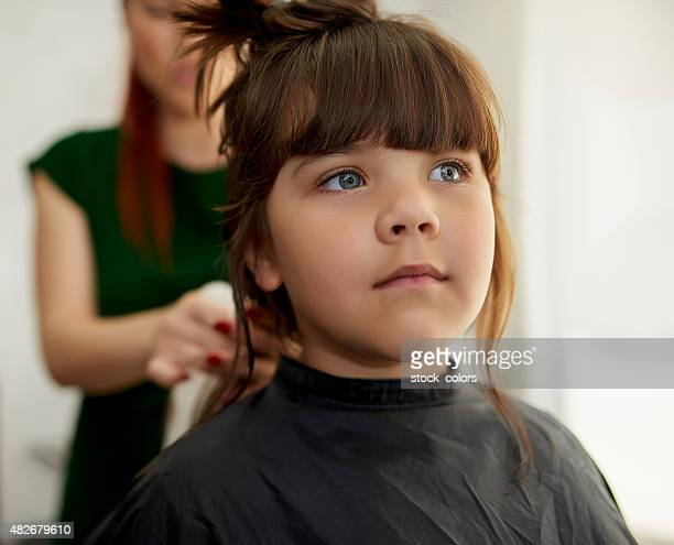 good girl at hairsalon