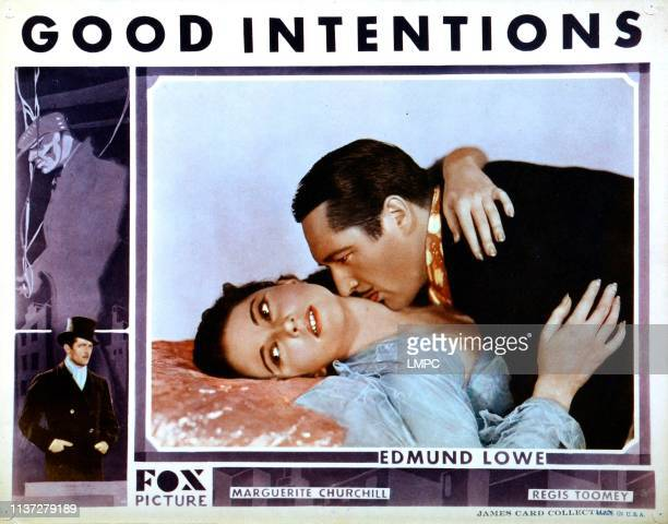 Good Intentions US lobbycard center from left Marguerite Churchill Edmund Lowe 1930