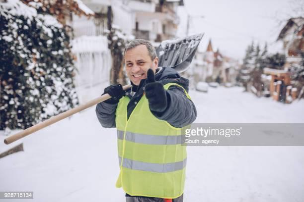 Gute Arbeit Schnee Reinigung