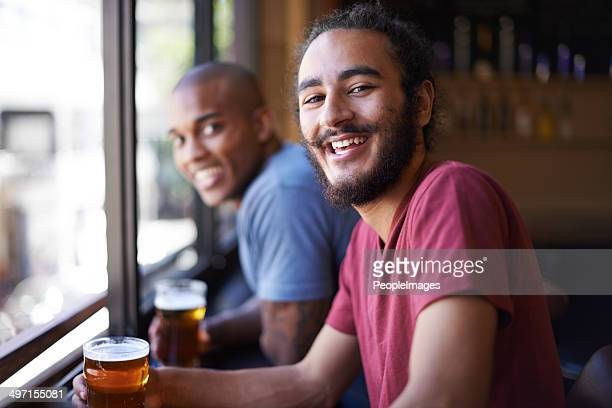 Good laughs over a great beer