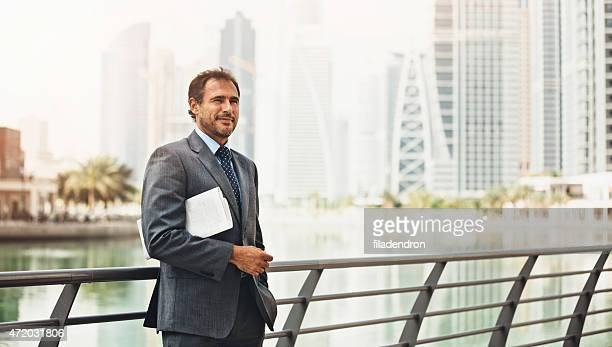 Good looking Businessman in the city