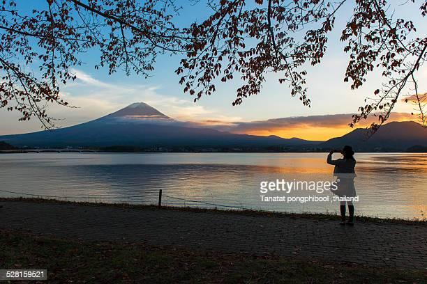 Good Moment at Lake Kawaguchiko, Japan.