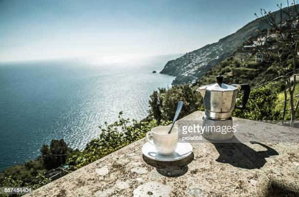 good morning amalfi coast - cultura italiana foto e immagini stock
