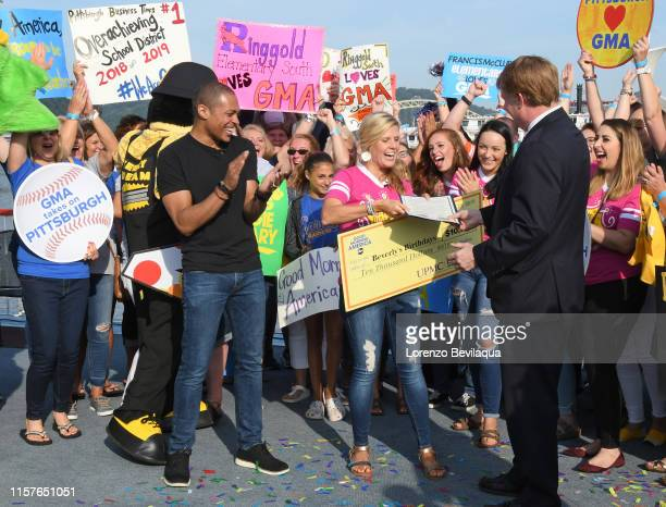 """Good Morning America,"""" broadcasts live from Pittsburgh, PA on Thursday, July 25, 2019 airing on the Walt Disney Television Network. TJ HOLMES, MEGAN..."""