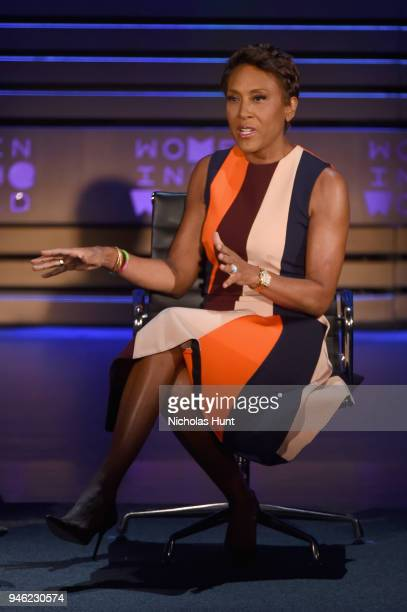 Good Morning America CoAnchor Robin Roberts speaks onstage at the 2018 Women In The World Summit at Lincoln Center on April 14 2018 in New York City