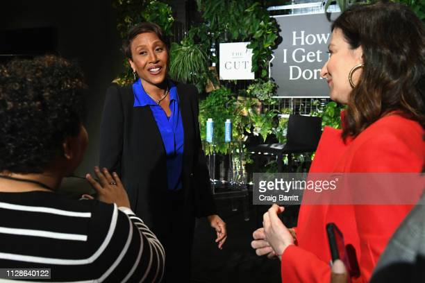 Good Morning America CoHost Robin Roberts speaks with guests at The Big Picture panel during The Cut's How I Get It Done at 1 Hotel Brooklyn Bridge...