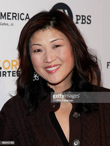 Good Morning America news anchor Juju Chang attends the Faces of America premiere at Allen Room at Lincoln Center on February 1 2010 in New York City