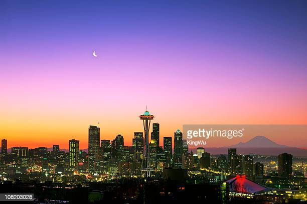 good morning america! - mt rainier stock pictures, royalty-free photos & images
