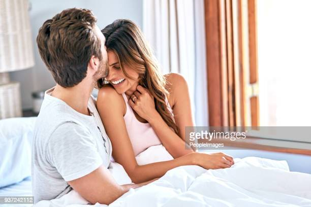 good morning beautiful - good morning kiss images stock photos and pictures
