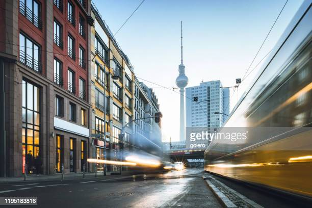 good morning berlin - central berlin stock pictures, royalty-free photos & images