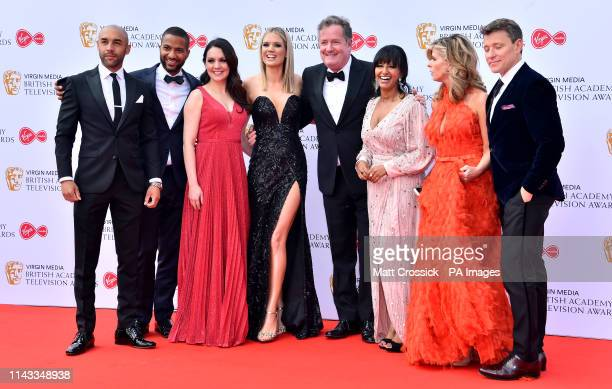 Good Morning Britains Alex Beresford Sean Fletcher Laura Tobin Charlotte Hawkins Piers Morgan Ranvir Singh Kate Garraway Ben Shephard attending the...