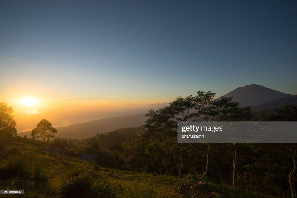 Good morning from Batur : Stock Photo