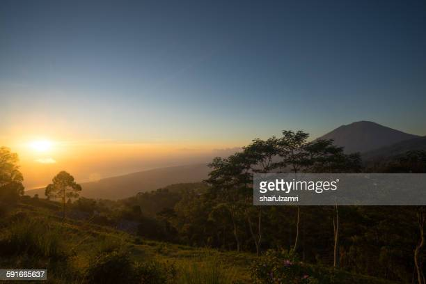 good morning from batur - shaifulzamri stock pictures, royalty-free photos & images