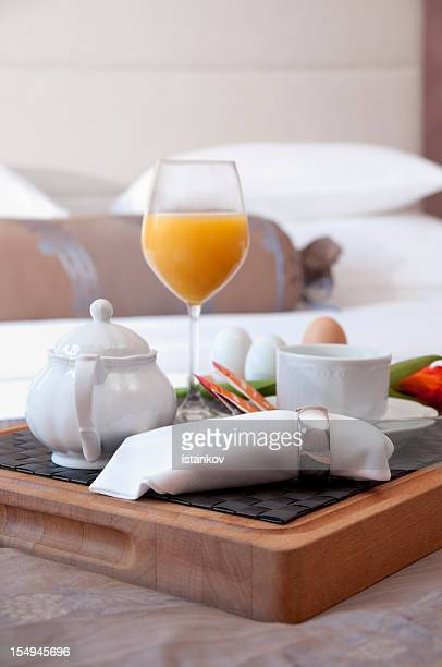 good morning honey - breakfast in bed stock pictures, royalty-free photos & images