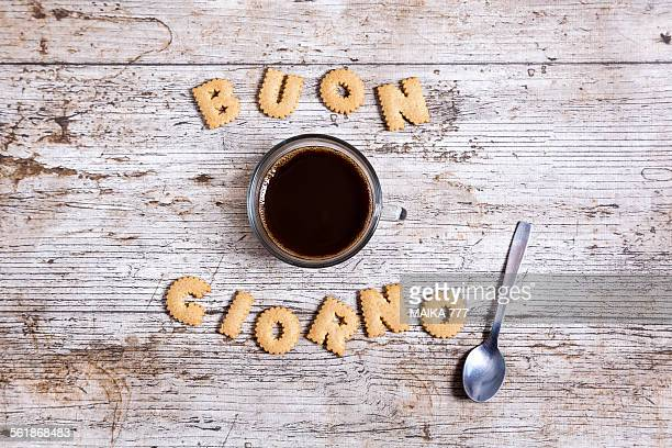 Good morning, in Italian, written with cookies
