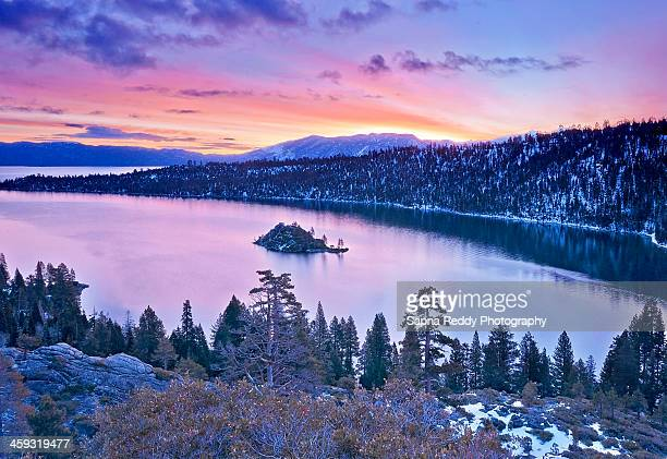 good morning ! - emerald bay lake tahoe stock pictures, royalty-free photos & images