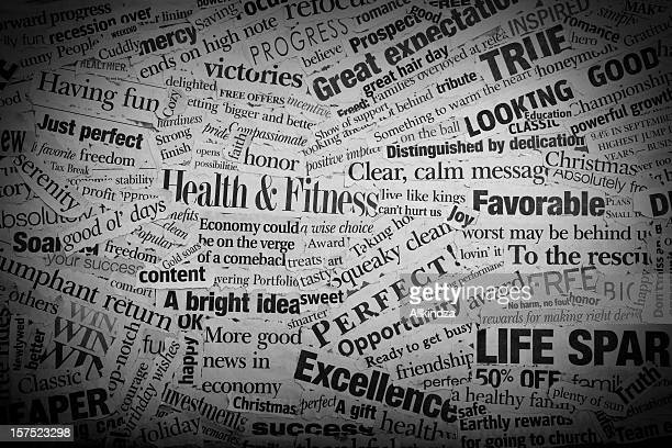 good news headlines - single word stock pictures, royalty-free photos & images