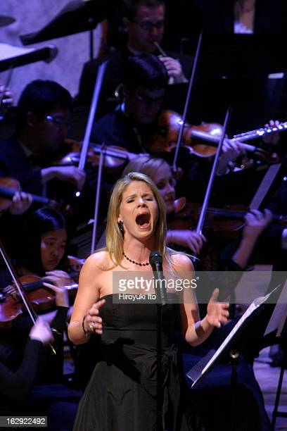 Good Night Alice at Lincoln Center's Alice Tully Hall on Monday night April 30 2007This imageKelli O'Hara with the Juilliard Orchestra conducted by...