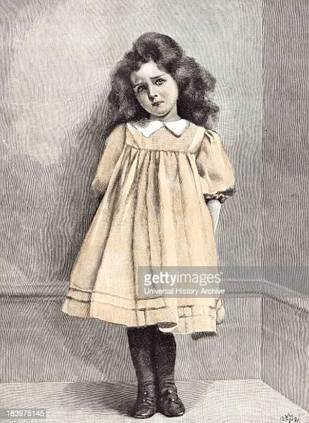 I'M Good Now E Patry 1892 Girl Corner Shy Dress White Collar Puff Sleeve Puffed Sleeve Bushy Hair