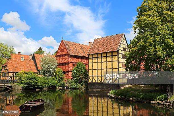 good old days in the city, aarhus - denmark - pejft stock pictures, royalty-free photos & images