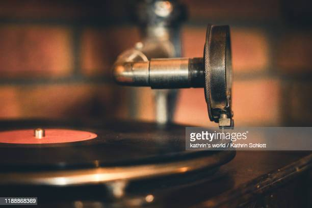 good old times - gramophone stock pictures, royalty-free photos & images