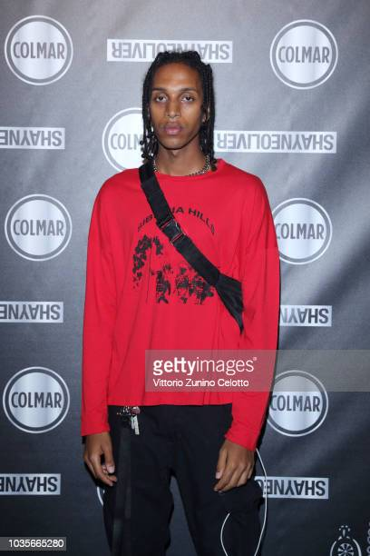 Dev attends 'COLMAR Presents it is the AGE of Shayne Oliver' event during Milan Fashion Week Spring/Summer 2019 at Arco Della Pace on September 18...