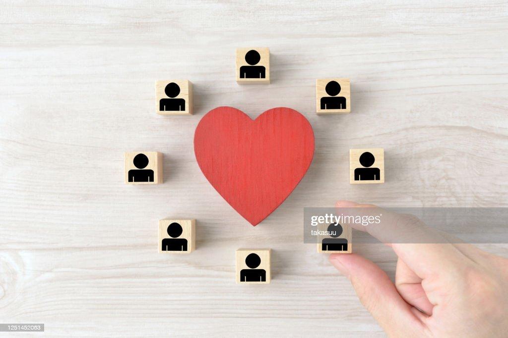 Good teamwork and human relationship images : Stock Photo