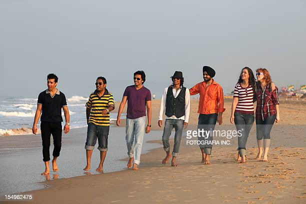 good time on the beach in india - sikh stock pictures, royalty-free photos & images