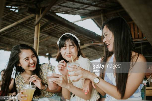good times of good girls with good friends at house-stock photo - thai ethnicity stock pictures, royalty-free photos & images