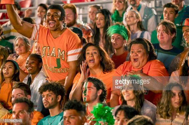 "Good vs. Great"" Episode 110 -- Pictured: Joseph Lee Anderson as Rocky Johnson, Stacey Leilua as Ata Johnson, Ana Tuisila as Lia --"