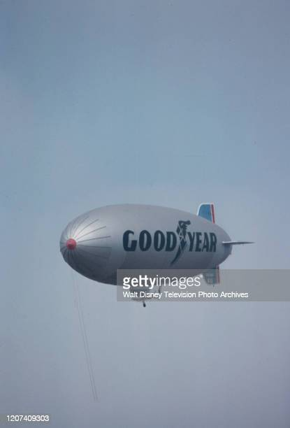 Good year blimp flying over the 1977 PGA Tournament of Champions ABC Sports coverage