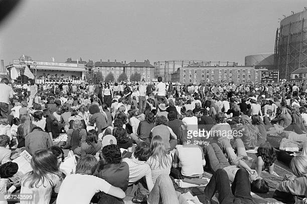 Goodbye Summer a charity pop concert to relieve famine in Bangladesh at the Oval cricket ground in London 18th September 1971