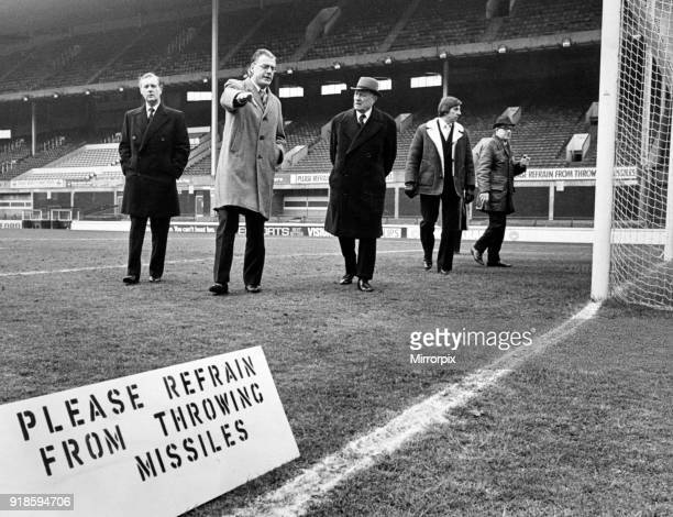 Goodison Park home to Everton FC the football stadium is located in Walton Liverpool England 2nd April 1975 Everton chairman Alan Waterworth points...