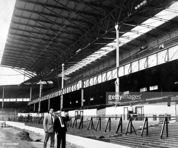 Goodison Park, home to Everton FC, the football stadium is located in Walton, Liverpool, England, 23rd July 1963. Pictured, Everton's hugh new...