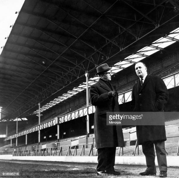 Goodison Park, home to Everton FC, the football stadium is located in Walton, Liverpool, England, 14th February 1965. Dennis Howell, Minister for...