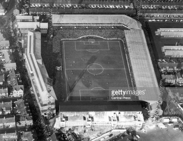 Goodison Park, the home ground of Everton F.C. In Liverpool, 31st March 1966.
