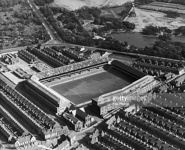 Goodison Park, the home ground of Everton F.C. In Liverpool, circa 1965.