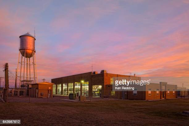 goodland, kansas utility building - small town stock pictures, royalty-free photos & images