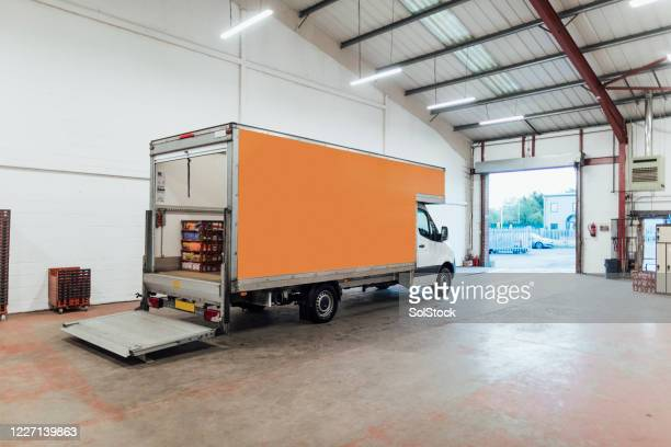 a goods vehicle - luton stock pictures, royalty-free photos & images