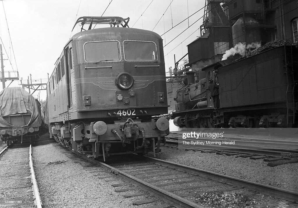 Goods yard railway electrified at Darling Harbour Sydney on 6 October 19 : News Photo