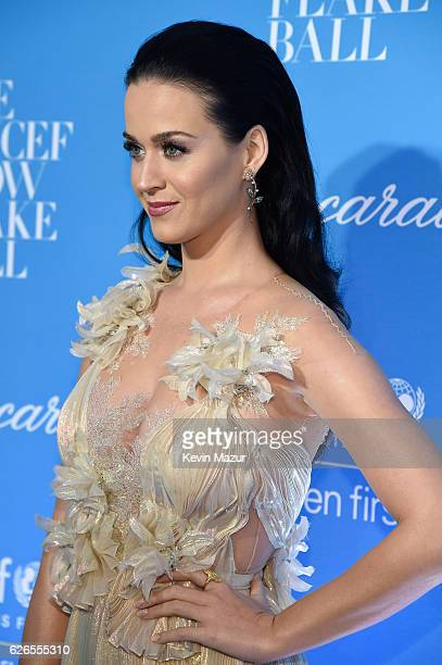 Goodwill Ambassador and Audrey Hepburn Humanitarian Award Honoree Katy Perry attends the 12th annual UNICEF Snowflake Ball at Cipriani Wall Street on...