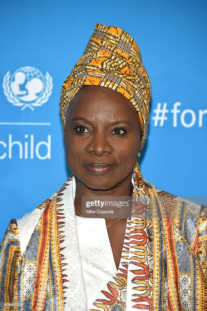 Goodwill Ambassador Angelique Kidjo attends UNICEF's 70th Anniversary Event at United Nations Headquarters on December 12, 2016 in New York City.
