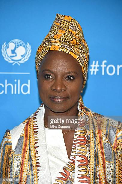 Goodwill Ambassador Angelique Kidjo attends UNICEF's 70th Anniversary Event at United Nations Headquarters on December 12 2016 in New York City