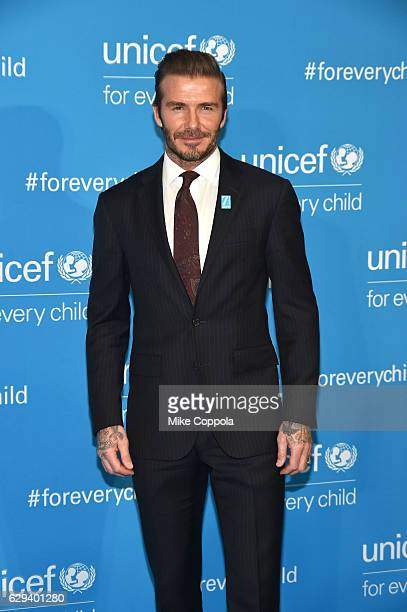 Goodwill Ambassador David Beckham attends UNICEF's 70th Anniversary Event at United Nations Headquarters on December 12 2016 in New York City