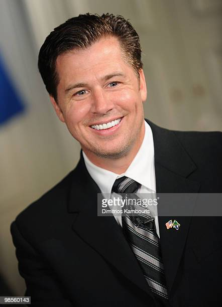 Goodwill Ambassador Doug Pitt poses as he is interviewed and named Goodwill Ambassador of the United Republic of Tanzania hosted by President Jakaya...