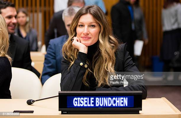 Goodwill Ambassador Gisele Bundchen participates on the Celebration of World Wildlife Day 2016 at the UN Headquarters in New York