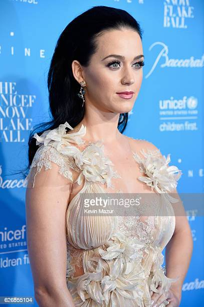 Goodwill Ambassador Honoree Audrey Hepburn Humanitarian Award Katy Perry attends the 12th annual UNICEF Snowflake Ball at Cipriani Wall Street on...