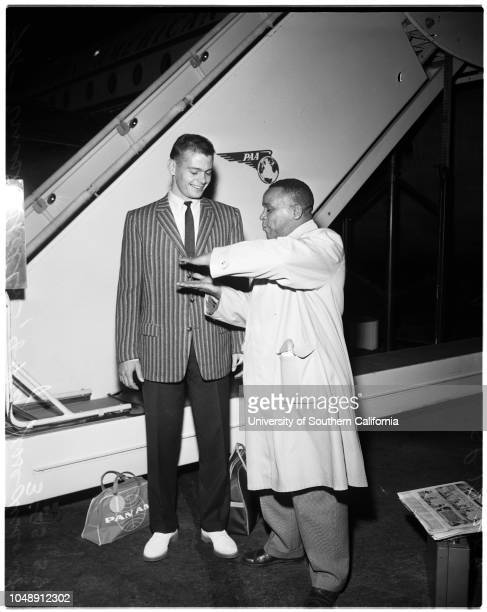 Goodwill tour of the Orient 23 March 1958 Ernest SheltonMajor Jesse Liscomb 'Sports' Supplementary material reads 'From News Bureau Pan American...