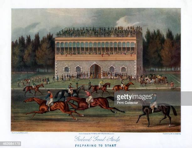 'Goodwood Grand Stand Preparing to Start' 1836