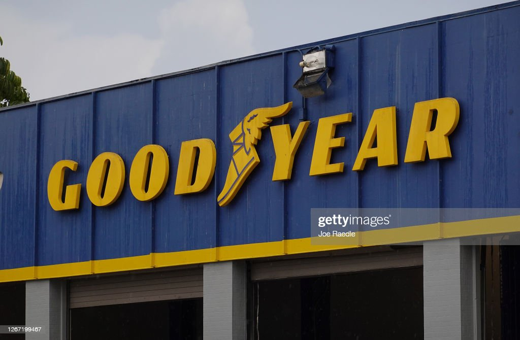 President Trump Tweets Out Call To Boycott Goodyear Tires, After Employee Training Material Cites Ban On MAGA Hats : News Photo